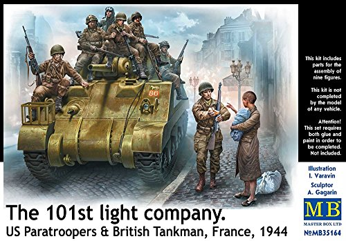 Master Box Ltd. mb35164 – Figuras 101th Light Company, us Paratroopers and British tankmen
