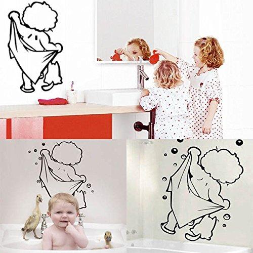 Tutoy Cute Baby Shower Pattern Sticker Salle De Bain Porte en Verre Décoration Murale