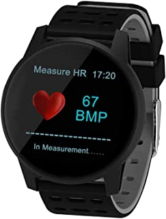 SUNROAD Smart Touch Screen Health&Fitness Tracker Activity Blood Pressure&Oxygen Watch Heart Rate Measurement Message & Call Remind Pedometer Calorie Bluetooth Sleep Monitor Watches