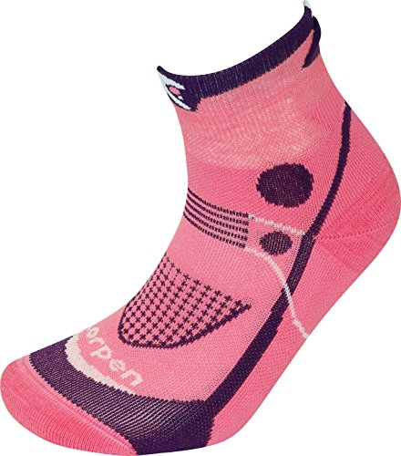 Lorpen Damen T3 Ultra Trail Running Gepolsterte Socken, Koralle, Größe M