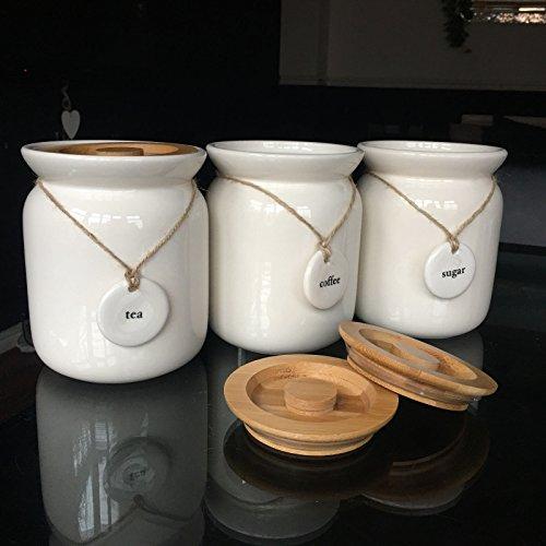 Large Tea Coffee Sugar Ceramic C...