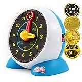 BEST LEARNING Reloj de aprendizaje - charla educativa aprende a decir la hora Juguete de luz con cuestionario y modo de dormir música de cuna para niños pequeños (Versión en inglés)
