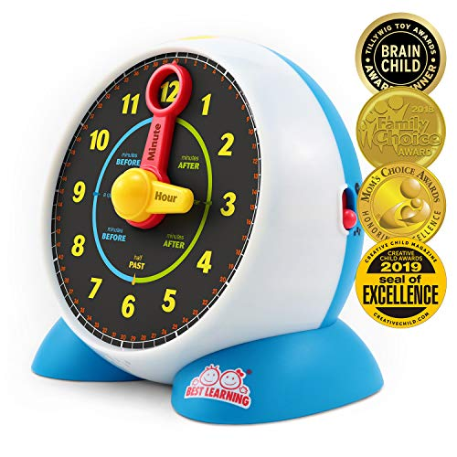 BEST LEARNING Learning Clock - Educational Talking Learn to Tell Time Light-Up...