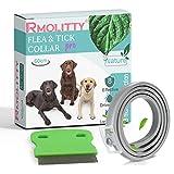 Rmolitty Collare Antipulci Antiparassitario per Cani, 8 Mesi di Trattamento, con pulce Pettine, per Piccolo Medio Grande Cani (60cm)