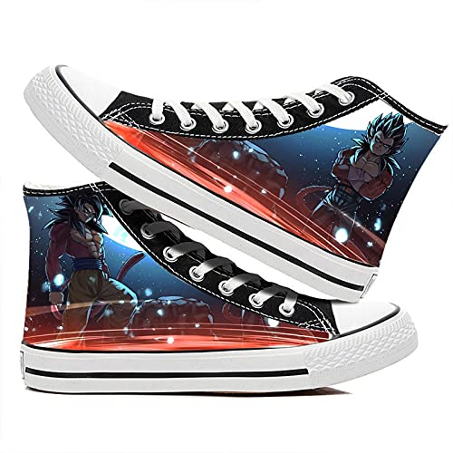 LaoSong Unisex Adults Shoes Anime Goku y Vegeta Super 4 Shoes Cosplay Anime Shoes Candy Shoes Sneakers Monster Series (Color : Azul, Size : Female US 9/UK 6.5/255MM)
