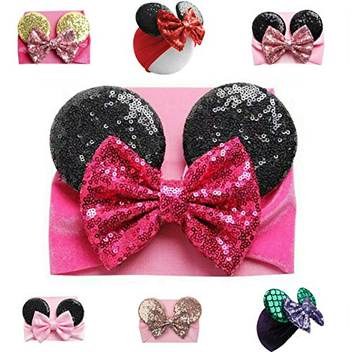 Mouse Ears Headband/Headwrap - Toddler, Baby, Kids - Party supplies (Pink-2)