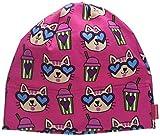 maximo Beanie, Aus Jersey, Gots Bonnet, Multicolore (Sun Pink-Katzen 44), 53 Fille