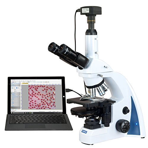 OMAX 40X-3000X 18MP USB3.0 Digital Quintuple Infinity Plan Phase Contrast LED Kohler Lab Microscope
