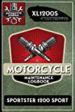 XL1200S Sportster 1200 Sport, Motorcycle Maintenance Logbook: Harley Davidson Models, Vtwin - Biker Gear, Chopper, Maintenance Service and Repair ... Records, Safety Reminders. 6 x 9 151 Pages