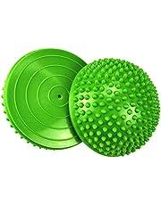 XCZGS Set de 2 Bola de Equilibrio para - Erizo del Masaje del pie de Yoga Durian Masaje De Pies De Bola Media Bola para La Gimnasia De Pilates para Adulto