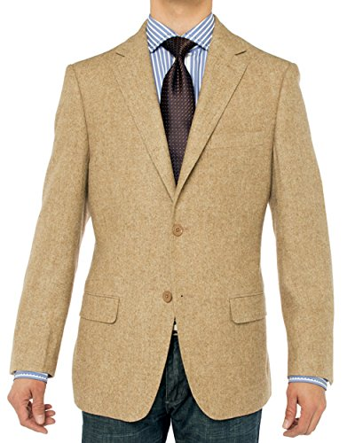 Mens Slim Fit Sport Coat Casual One Button Solid Color Jacket Blazer Khaki