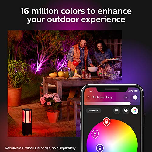 Philips Hue Econic Smart Outdoor White & Color Wall Lantern, Down (Hue Hub Required, Smart Light Works with Alexa, Apple Homekit & Google Assistant)