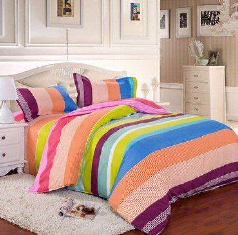 Bluelover 3 of 4 stuks katoenmix mix patroon kleur druk beddengoed sets Twin Full Queen Size