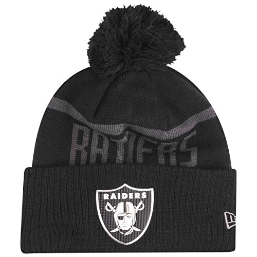 New Era NFL Blk Coll Knit Bommelmuts Oakland Raiders zwart