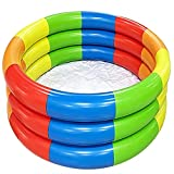 Valink Kiddie Pools, Rainbow Round Pool Piscina Plegable Piscina Interior y Exterior Piscina para Niños