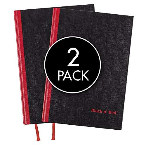 Black n' Red Notebooks, capa dura, 21 x 14 cm, médio, 96 folhas pautadas, pacote com 2 (73405)