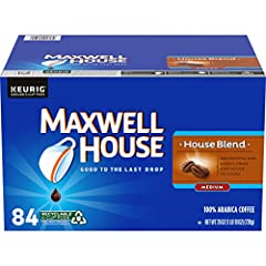 One 84 ct. box of Maxwell House House Blend K Cup Coffee Pods House Blend coffee pods deliver the same quality you expect from any package of Maxwell House Designed for use in Keurig 1.0 & 2.0 brewing systems Delightful & Lively, from our house to yo...