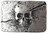 gürtelschließe Cinturón Hebilla–Knights–maciza–Bañado en plata y lacado–para 3,8hasta 4cm Ancho Bandas