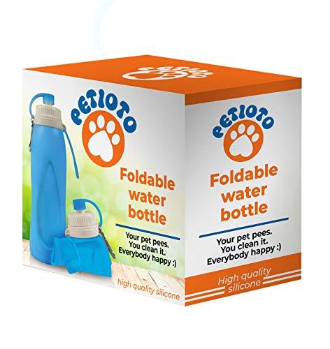 Petioto - Botella de Agua Plegable – 500ml - Mantén tu Ciudad...