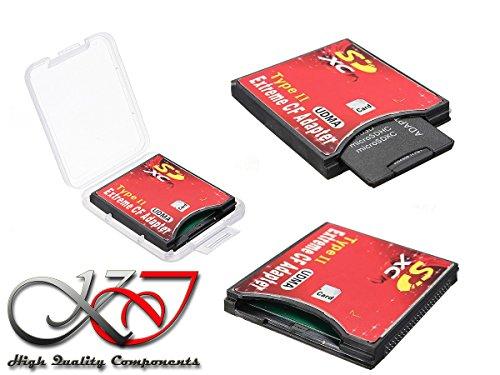 Kalea Informatique - Adaptador de SD, SDHC, SDXC y SD 3.0 a Compact Flash CF II para ordenador o cámara de fotos Canon y Nikon