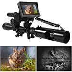 Blu7ive Digital Night Vision Scope for Rifles Optics Sight Tactical Infrared Night Vision Monocular for Complete Darkness with Camera and IR Flashlight DIY