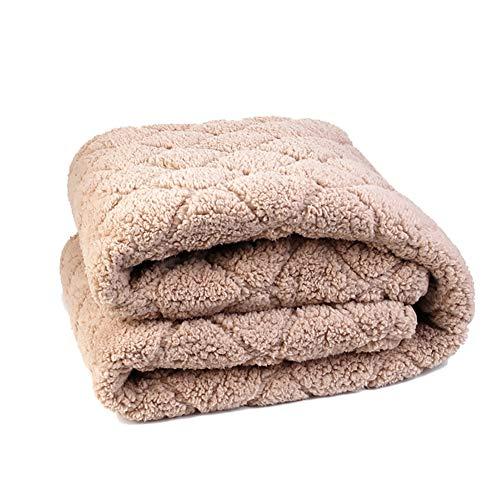 CRZJ Heizdecke, Elektrische Wärmedecke fürs Bett mit Abschaltautomatik Überhitzungsschutz mit 6 Temperaturstufen, Heimgebrauch Sofa Büronutzung benutzen, Kaschmir (Size : 200 * 180cm)