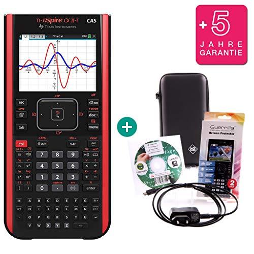 Streberpaket: TI Nspire CX II-T CAS + SafeCase Schutztasche + erweiterte Garantie + Ladekabel + Schutzfolie + Lern-CD (auf Deutsch)