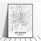 SYBS Leinwand malen dekor gottingen Deutschland Karte