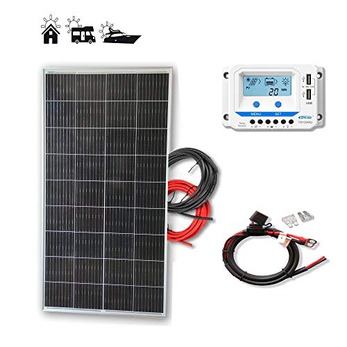 Kit 150W PRO 12V panel solar placa monocristalina células PERC de alta eficiencia