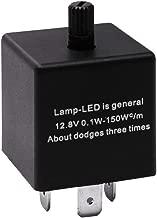 HUIQIAODS CF13 JL-02 EP34 3 Pin Adjustable LED Flasher 12.8 V 0.1W-150W Turn Singal Relay Lights Hyper Blink Flash Fix