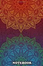 """Notebook: Twins Mandalas , Journal for Writing, College Ruled Size 6"""" x 9"""", 110 Pages"""