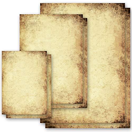 100 fogli di carta da lettera decorati Vintage CARTA ANTICA DIN A5 - Paper-Media