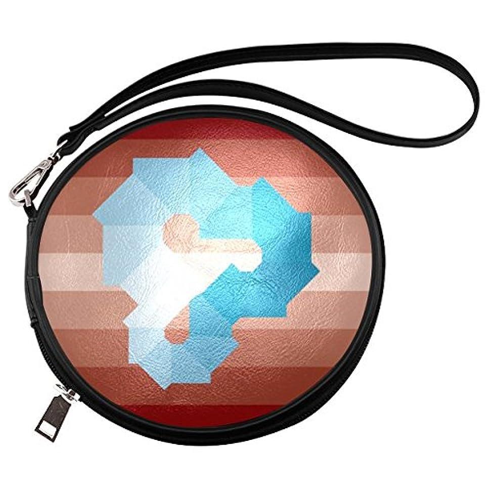 サーカス暴行ヒロイン(ArtsAdd) メイクバッグ Makeup Bag ラウンド 丸形 メイクボックス コスメバッグ 化粧道具入れ バニティーケース コスメポーチ