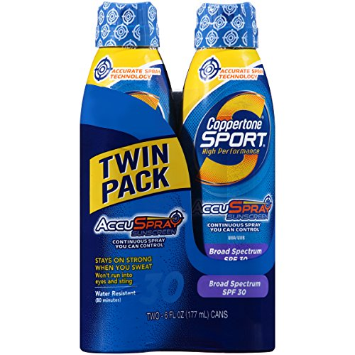 Coppertone Continuous Spray Twin-Pack Sport Spf #30 180 ml (Continuous Spray)