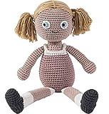 Sebra - Häkel-Puppe - Rose - Baumwolle - von Hand gefertigt - Höhe 40 cm