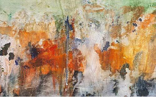Jkckha antideslizante Manta de área de suave cubierta de alfombras Mat acuarela al óleo del extracto de la tinta naranja Pintura Cristal corto de terciopelo Dormitorio Sala Pavimento alfombra de la es