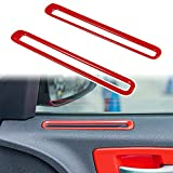 LAIKOU Car Inner Door Air Conditioner Vent Outlet Trim Decoration Cover Interior Accessories for 2011-2021 Dodge Charger 2-Piece (Red)