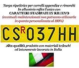 Targa Ripetitrice in Alluminio Catarifrangente per carrelli e rimorchi...