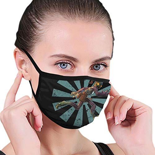 ghjkuyt412 Abes Oddysee Retro Japanisch Nahtlos Staubdicht Schal Bandana Gesichtsbedeckungen Wiederverwendbarer Schal