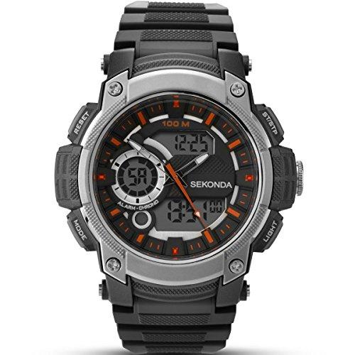 Sekonda Herren Digital Uhr mit Plastik Armband 1160.05