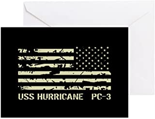 CafePress USS Hurricane Greeting Card, Note Card, Birthday Card, Blank Inside Glossy