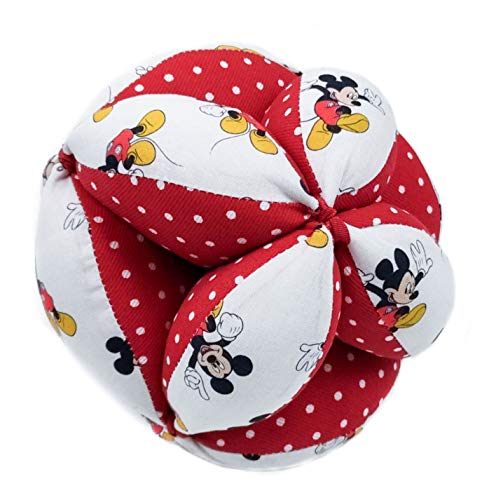 Borda y más Balla di Pressione Montessori, Palla per Bambini, Palla sonaglio o Pallina Montessori. Vari Modelli e Colori Disponibili. (Disney Comet Rosso)