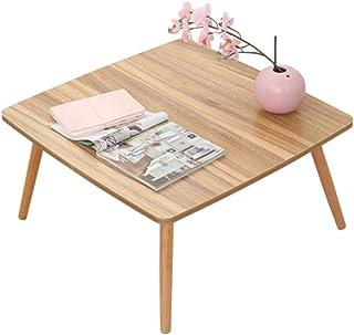 デスク デスクシンプルなコンピュータデスクベッドデスク折り畳みデスク寮寝室フロートウィンドウホーム多機能怠惰小テーブル (Color : Brown, Size : 60*60*30cm)