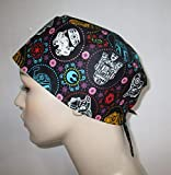 Mens Womens Star Wars Sugar Skulls Surgical Scrub Hat Nurses Hat Chemo Hat