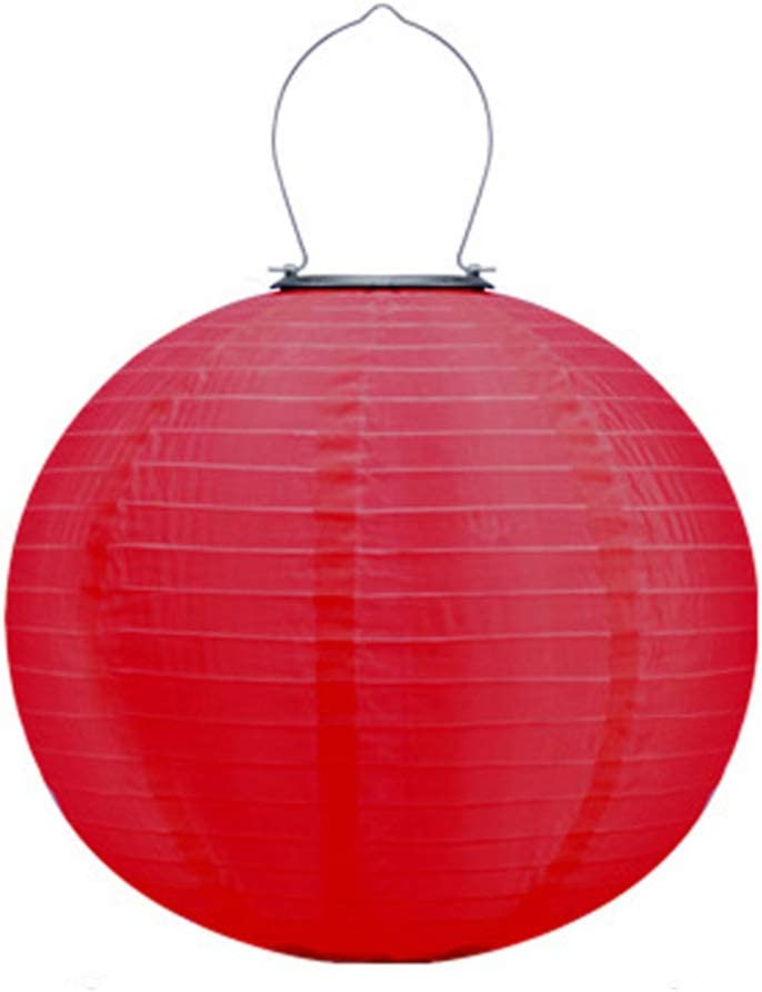 Uonlytech 12 inch Solar Chinese Lante Waterproof Complete Free Shipping Lanterns Nylon Overseas parallel import regular item