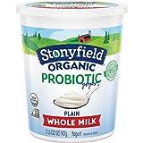 Stonyfield Organic Whole Milk Probiotic Yogurt, Plain, 32 oz. – Immunity & Digestive Health