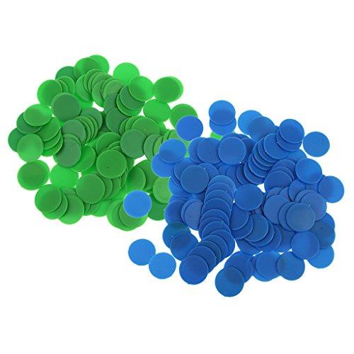 Baoblaze 200 Pz Opaco Gioco Da Tavolo In Plastica Contatori Insegnamento Materiali Didattici - verde blu