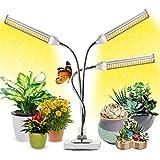 Garpsen LED Plant Grow Light, Full Spectrum Grow Lights for Indoor Plants, 315 LEDs Upgrade Sunlike Growing Light for Seedlings, with 3 Heads & 5 Brightness Levels & Timer
