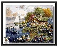 ARTomo【アトモ】パズル油絵『フレーム付き』数字 油絵 DIY 塗り絵 本格的な油絵が誰でも簡単に楽しく描ける 40x50cm (ワンダーランド)