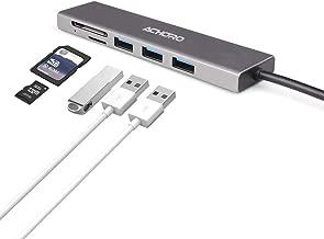 Achoro 3 USB Mirco SD TF Card Reader Hub - Aluminum Housing Premium Quality High-Speed 3.0 Data Transfer Memory Card Reader Hub - Compatible with MacBook, Windows, iMac
